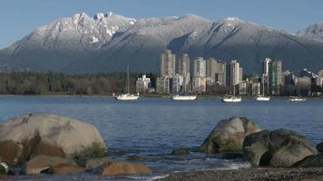 Vancouver Towers, Mountain Snow, English Bay 4K