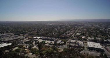 vista aerea panoramica della città di los angeles e west hollywood