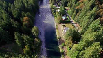aérea acima do vale do rio snoqualmie video