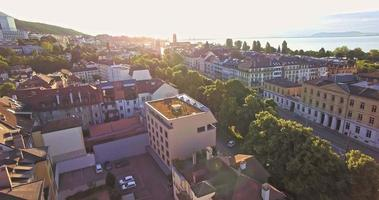 aerial view of Neuchatel with a beautiful sunny day, Switzerland video