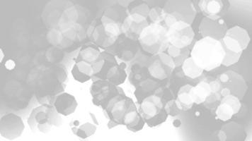Nahtlose Schleife der 4k weißen sauberen Bokeh-Hintergrundanimation. video