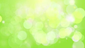 4k saubere grüne glatte Bokeh Animation Hintergrund nahtlose Schleife. video