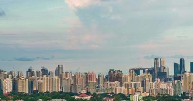 4k singapore skyline della città del tramonto