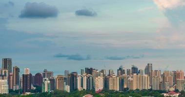 4k do horizonte da cidade de Singapura com o pôr do sol video