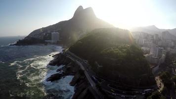 vista aérea do morro dois irmãos, rio de janeiro, brasil