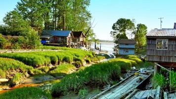 Mouth to Ocean, Delta Marsh Steam to Ocean, Fishing Village