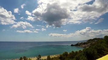 mar, escena de la naturaleza, caminia, calabria, lapso de tiempo, 4k