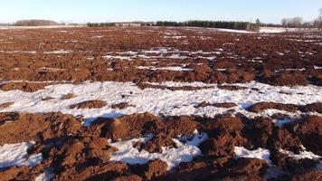 campos agrícolas ficam dormentes no inverno, mas a primavera está próxima video