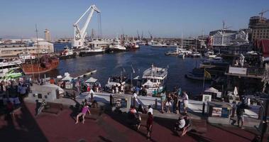 vista panorâmica da famosa cidade de victoria e ao ar livre à beira-mar do cabo video