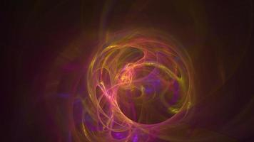 fundo de movimento em loop abstrato de curvas coloridas