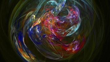 abstrakter Schleifenbewegungshintergrund der bunten Kurven video