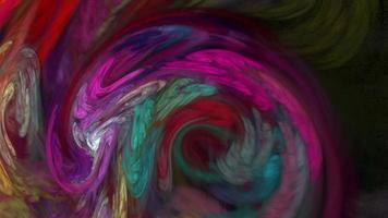 abstrakte Hintergrundschleife des bunten Wirbels wirbeln video