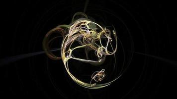 fundo de movimento em loop abstrato de curvas coloridas video