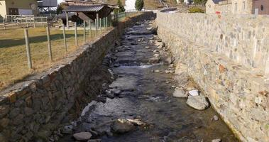 vall de nuria mountain river 4k video