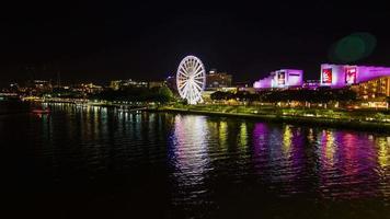 Australia Ferris Wheel at Nighttime : Time Lapse video