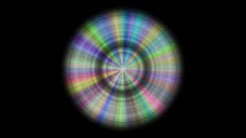 disco de metal con reflejos de color, bucle sin interrupción