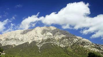 View of Tahtali Dag near the Cirali village, District of Kemer, Antalya Province.