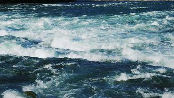 Raging rapids of the Niagara River before the waterfall