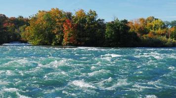 rasende Stromschnellen des Niagara-Flusses vor dem Wasserfall video