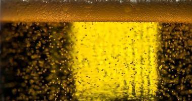 bolle nel boccale di birra