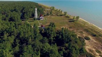 faro panoramico e maestoso al punto di Rawley, due fiumi, Wisconsin