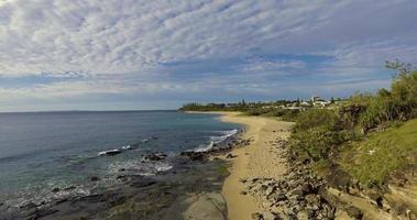 vista aerea della costa del litorale del sole