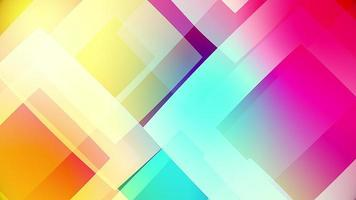 quadrados coloridos vídeo de fundo com formas circulares transparentes video