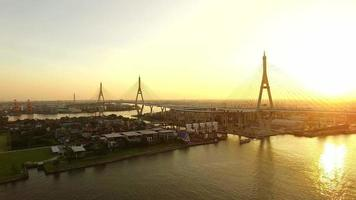 Bhumibol Bridge Bangkok in Thailandia video