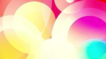 kleurrijke cirkels video achtergrond glazige en transparante ronde vormen