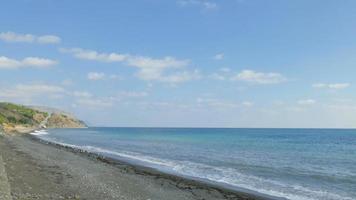 paisagem marinha em dia ensolarado de outono