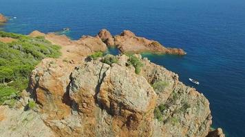 France, Cote d'azur, Var, Aerial view of cap Esterel