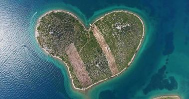 Luftaufnahme der Insel Galesnjak, Kroatien