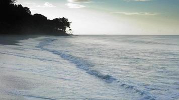 vista panoramica della spiaggia esotica, Trinidad, Trinidad e Tobago