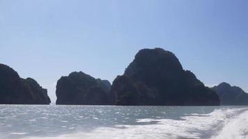 Thailand Sommertag Inseln Schnellboot Ausflug Panorama 4k video