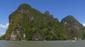thailand famous islands speed boat ride panorama 4k video