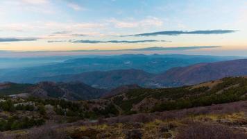 tramonto luce spagna montagne 4k lasso di tempo spagna video