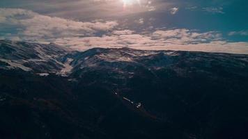 Spagna montagna panorama 4K lasso di tempo video
