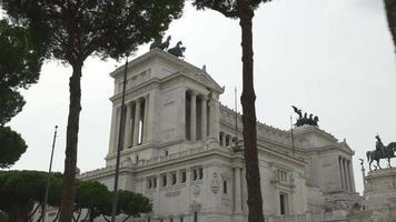 Italien Tag Zeit Rom Stadt berühmte Vittoriano Venedig Platz Panorama 4k video