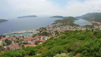 kas, turkey and meis island, greece, timelapse video