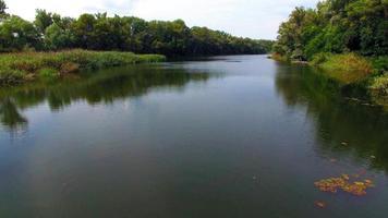 vista aérea del río en el bosque