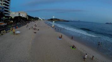 Aerial view at Ipanema beach looking to the Arpoador, Rio de janeiro, Brazil