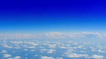 Blue Sky Aerial View, Blue Background, Above White Clouds