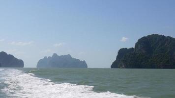 Thailand Sommerinseln Schnellboot Ausflug Rückfahrt Panorama 4k video