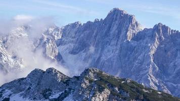 lapso de tiempo del paisaje de montaña video