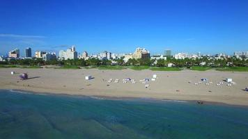 flyover aéreo miami beach drone video