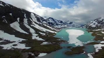 lago de montaña en noruega