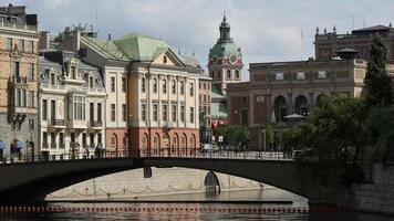 Riksbron eine Bogenbrücke in Stockholm
