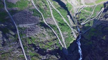 route à trollstigen, norvège, images aériennes