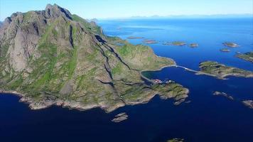 Islands around Henningsvaer on Lofoten islands, Norway