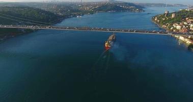 istanbul bosphorus and vessel traffic